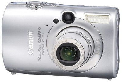 Powershot SD990 IS 14.7 MP Digital ELPH Camera (Silver) - REFURBISHED