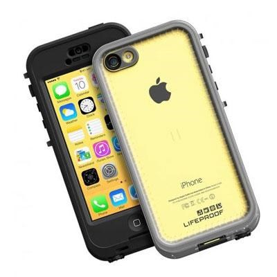 LifeProof NUUD iPhone 5c Waterproof Case in Black and Clear - 2002-01