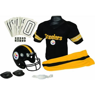 NFL Deluxe Team Small Uniform Set - Pittsburgh Steelers, Medium - OPEN BOX