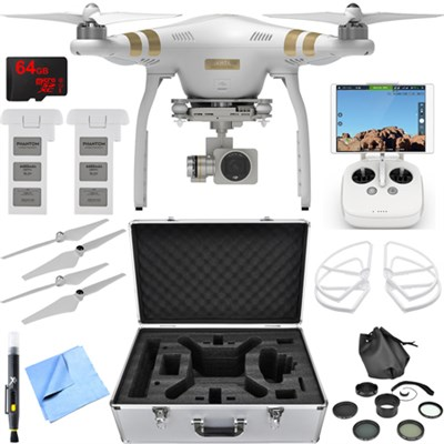 Phantom 3 Professional Quadcopter Drone w/ 4K Camera Essential Accessory Bundle