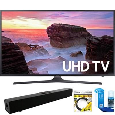 65` 4K HDR Ultra HD Smart LED TV 2017 Model + Bluetooth Sound Bar Bundle