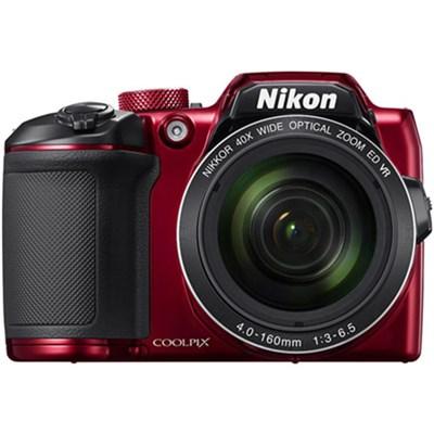 COOLPIX B500 16MP 40x Optical Zoom Digital Camera WiFi (Red) Refurbished