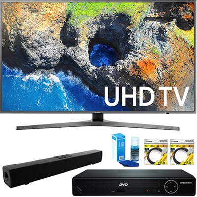 54.6` 4K UHD Smart LED TV 2017 + HDMI DVD Player & Sound Bar Bundle