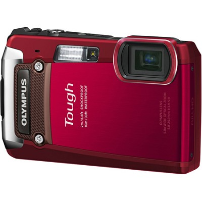 Tough TG-820 iHS 12MP Waterproof Shockproof Freezeproof Digital Camera - Red