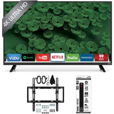 D40u-D1 40-Inch 120Hz 4K UHD Full-Array LED Smart TV w/ Tilt Wall Mount Bundle