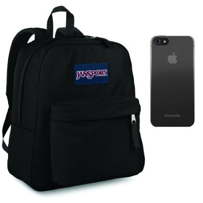 Superbreak Backpack in Black with Black iPhone 5/5S Case