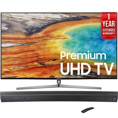 UN65MU9000 65` 4K UHD Smart LEDTV 2017+Curved Premium Soundbar+Extended Warranty