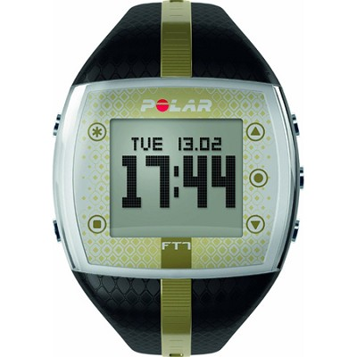 FT7  Heart Rate Monitor Watch - Black/Gold