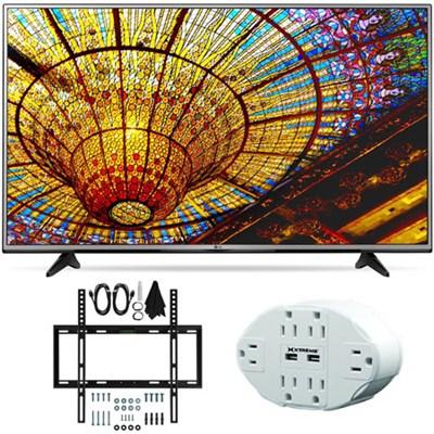43UH6030 - 43-Inch 4K UHD Smart LED TV w/ webOS 3.0 Slim Wall Mount Bundle
