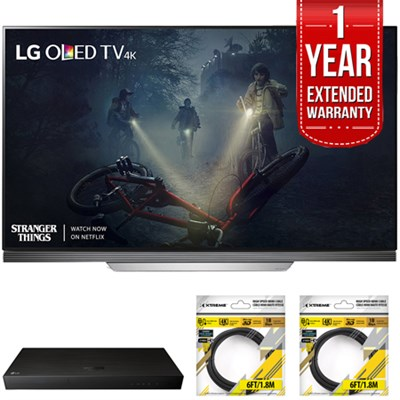 65` E7 OLED 4K HDR Smart TV 2017 Model with Warranty + Blu Ray Bundle