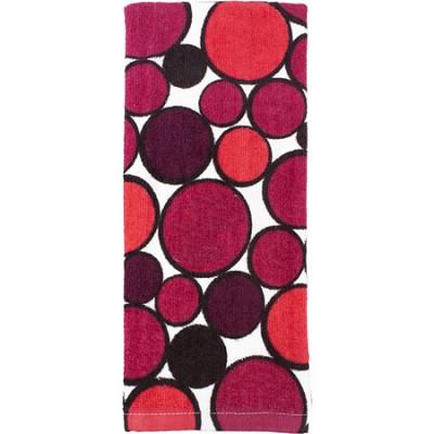 Printed Geometric  Kitchen Towel - Red