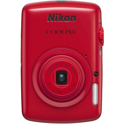 COOLPIX S01 10.1MP 2.5-inch Touch Screen Digital Camera - Red Refurbished