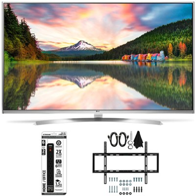 60UH8500 - 60-Inch Super Ultra HD 4K Smart LED TV Slim Flat Wall Mount Bundle
