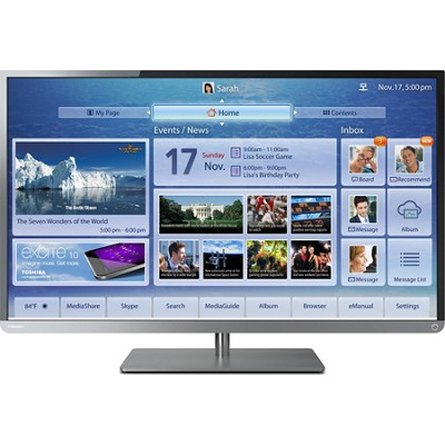 50 Inch Cloud LED TV 1080p  Smart Wifi 120Hz CRACKED SCREEN