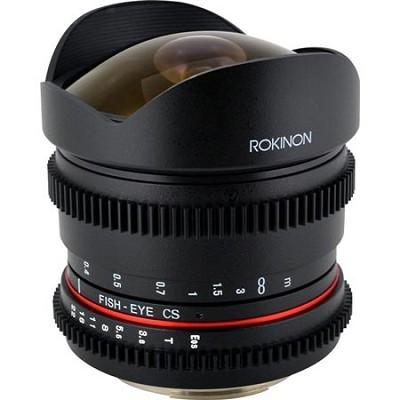 8mm T3.8 Cine Ultra Wide Fisheye Lens for Canon EF Mount