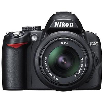 D3000 DX-format Digital SLR Kit w/ 18-55mm DX VR Zoom Lens (Refurbished)