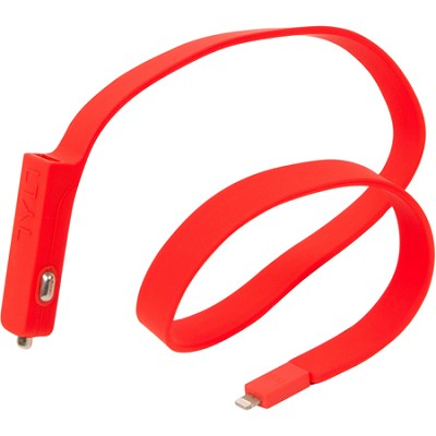 BAND Car Charger Lightning Cable - Red