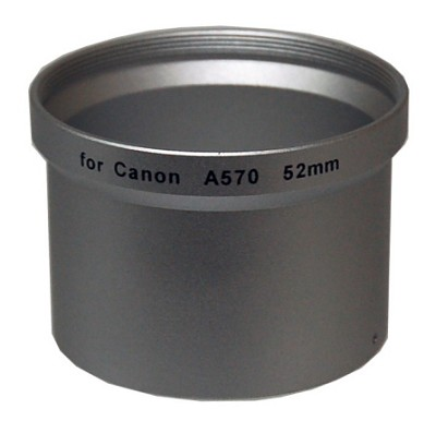 52mm Lens Barrel Adapter For Canon PowerShot A570, A590