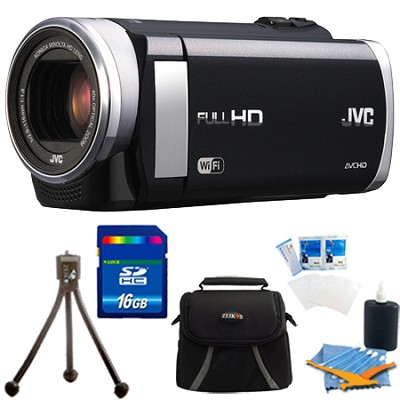 GZ-EX210BUS - HD Everio f1.8 Camcorder 40x Zoom 3.0` Touch LCD WiFi 16GB Bundle
