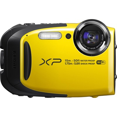 FinePix XP80 16MP Waterproof Digital Camera (Yellow) Factory Refurbished