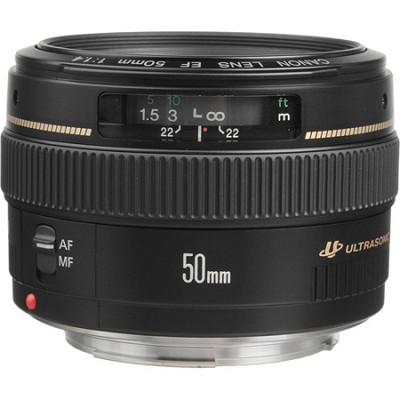 EF 50mm f/1.4 USM Standard + Medium Telephoto Lens for Canon SLR Cameras