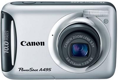 PowerShot A495 10 Mega Pixel with 3.3x Optical Zoom Digital Camera (Silver)