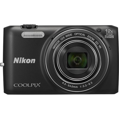 COOLPIX S6800 16MP 1080p HD Video Digital Camera - Blk - OPEN BOX