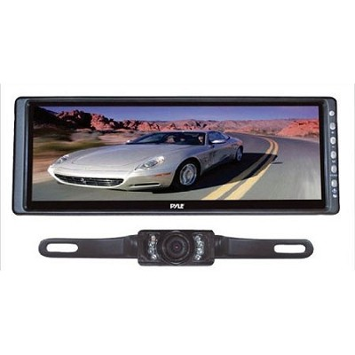 10.2'' Rearview Mirror Monitor w/ License Plate Mount Rear View Night Vision Cam