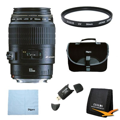 EF 100mm F/2.8 Macro Lens Exclusive Pro Kit