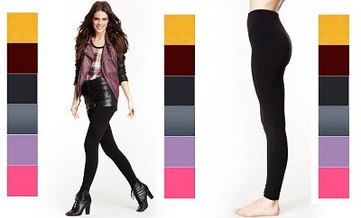6-Pack Seamless Leggings One Size Fits Most  (Random Colors)
