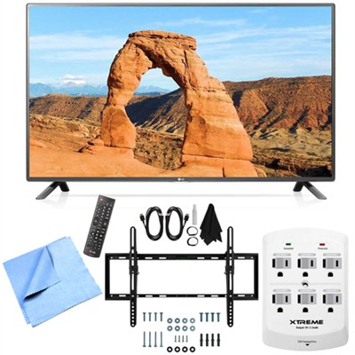 60LF6000 - 60-inch Full HD 1080p 120Hz LED HDTV Tilt Mount & Hook-Up Bundle