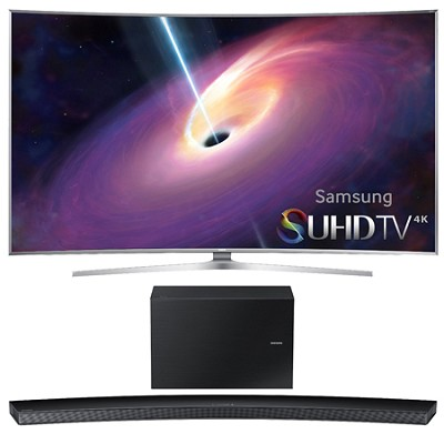 UN65JS9000 - 65-Inch Curved 4K 120hz SUHD 3D LED TV w/ HW-J8500 Soundbar Bundle