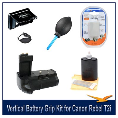 Loaded Pro Vertical Battery Grip Kit for Canon Rebel T2i,T3I,T4I (Replaces BGE8)