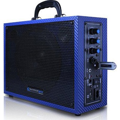 WASP300DB Battery Powered PA System with USB Playback - Dark Blue