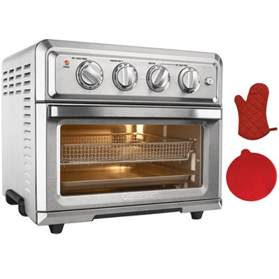 Convection Toaster Oven Air Fryer w/Light + Oven Mitt & Silicon Trivet