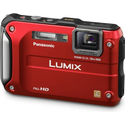 Lumix DMC-TS3 Red Shockproof Freezeproof Dustproof Camera