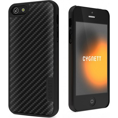 Urban Shield Carbon Fiber Hard iPhone 5 Case With Metal Cover