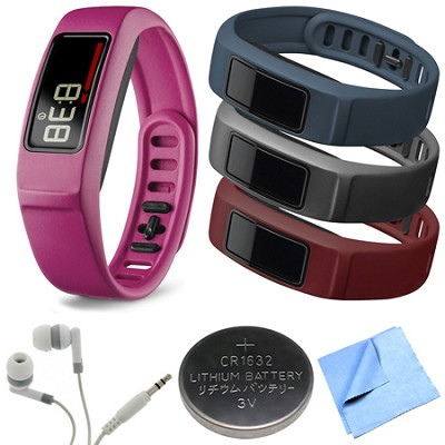 Vivofit 2 Bluetooth Fitness Band (Pink)(010-01503-03) Burgundy/Slate/Navy Bundle