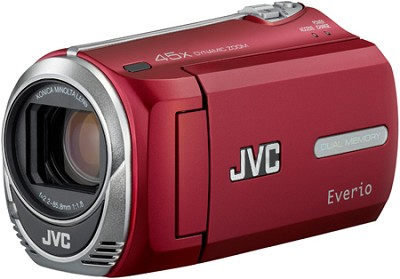 Everio GZ-MS250R Camcorder w/ 8GB Built-in Flash Memory & SD/SDHC Card Slot Red