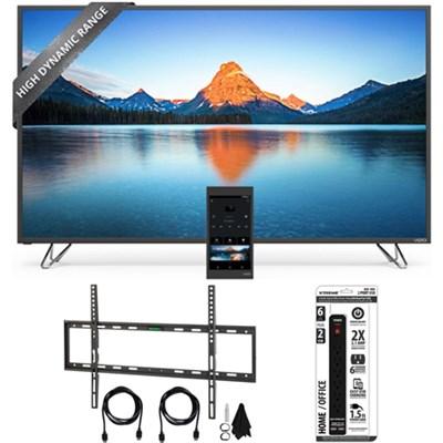 M70-D3 - 70-Inch 4K SmartCast Ultra HD HDR LED TV Flat Wall Mount Bundle