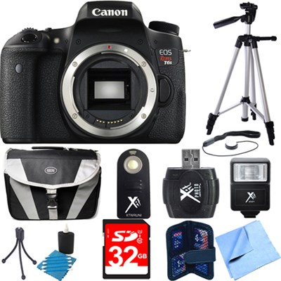 EOS Rebel T6s Digital SLR Camera Body Deluxe Bundle