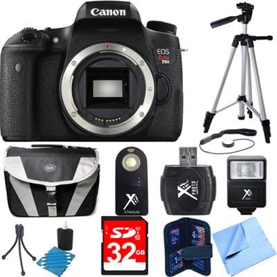 EOS Rebel T6s Digital SLR Camera Body Deluxe Bundle