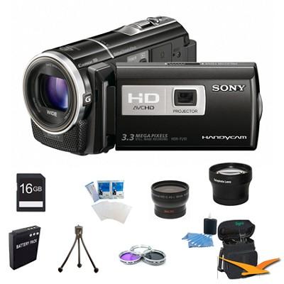 HDR-PJ10 Handycam 16GB Full HD Camcorder Ultimate Bundle