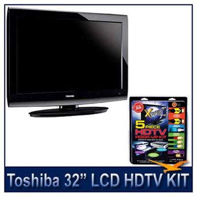 32C100U 32` 720p LCD HDTV + High-performance HDTV Hook-up & Maintenance Kit