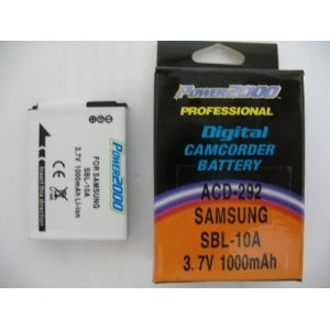 SBL-10A Replacement 3.7v, 1000mAh Lithium Ion Battery for Samsung SLB-10A