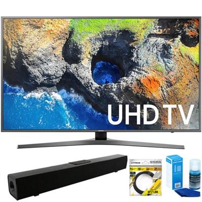 40` UHD 4K HDR LED Smart HDTV, Silver (2017) + Bluetooth Sound Bar Bundle