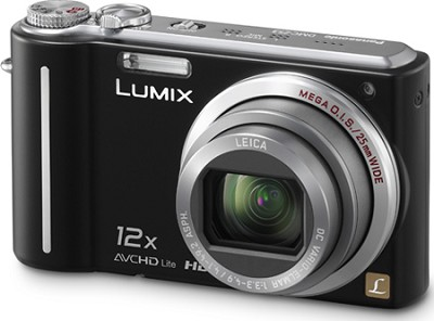 DMC-ZS3K LUMIX 10.1MP Compact Digital Camera w/ 12x Super Zoom-Black-REFURBISHED