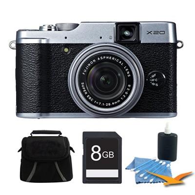 X20 12MP Digital Camera 8GB Silver Kit