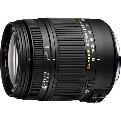 18-250mm F3.5-6.3 DC Macro OS HSM Lens for Canon EF Cameras - OPEN BOX