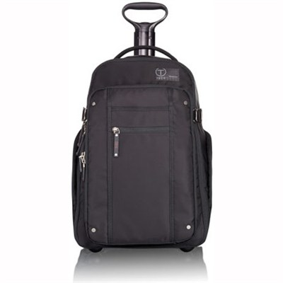 T-Tech By Tumi Icon Jerry Wheeled Backpack (Black)(57572) - OPEN BOX